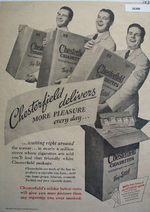 Chesterfield Cigarettes Delivers 1938 Ad