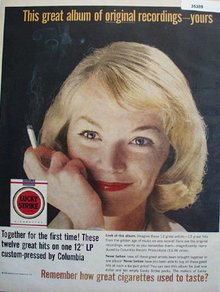 Lucky Strike Great Cigarettes 1961 Ad