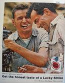 Lucky Strike Cigarettes Honest Taste 1958 Ad.