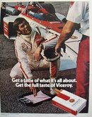 Viceroy Cigarettes Racing 1972 Ad
