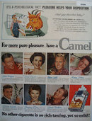 Camel Cigarette Movie Stars 1955 Ad