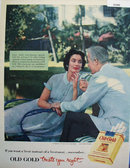 Old Gold Cigarettes Treat You Right 1953 Ad