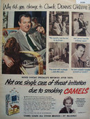 Camel Cigarettes Dennis O'Keefe 1952 Ad