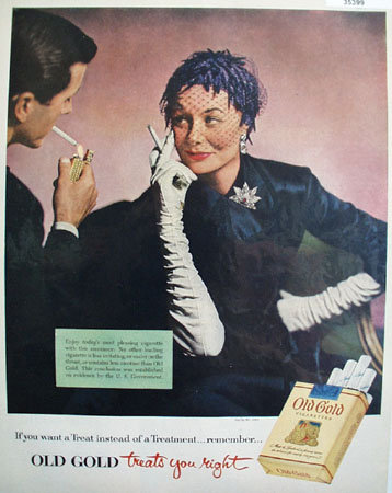 Lorillard Old Gold Cigarettes 1953 Ad