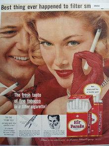 Hit Parade Cigarette 1957 Ad