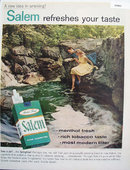 Salem Menthol Fresh Cigarettes 1957 Ad