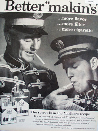 Marlboro Cigarette Secret Recipe 1959 Ad.