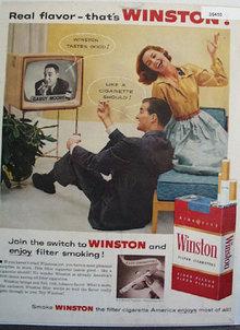Winston Real Flavor Cigarette 1956 Ad