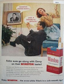 Winston Cigarette Gary Moore 1957 Ad