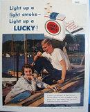 Lucky Strike Light Cigarette 1958 Ad