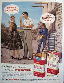 Winston Cigarette Southwest Scene 1957 Ad