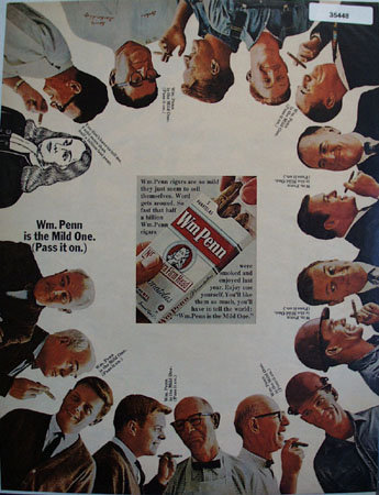 Wm. Penn Cigars The Mild One 1965 Ad