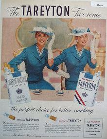 Tareyton Cigarette Twosome 1956 Ad