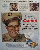 Camel Cigarettes Phil Silvers 1956 Ad