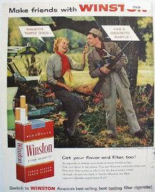 Winston Cigarette 1956 Ad