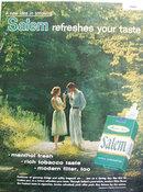 Salem Menthol Fresh cigarettes 1958 Ad