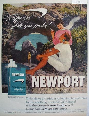 P. Lorillard Co. Newport Cigarette 1959 Ad