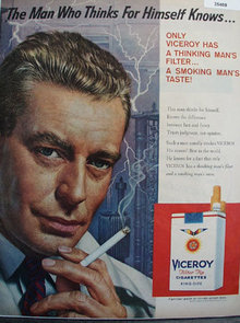 Viceroy Filter tip Cigarette 1959 Ad