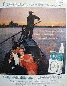 Oasis Cigarette Gondola Ride 1959 Ad