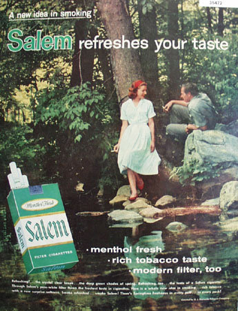 Salem Cigarette New Idea in Smoking 1959 Ad
