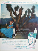 Oasis Cigarettes at Palm Springs 1959 Ad.