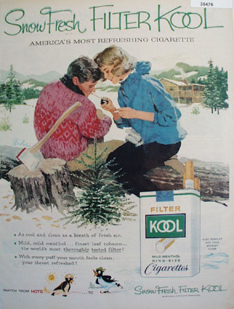 Kool Cigarette Snow Fresh 1959 Ad