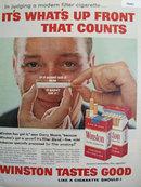 Winston Cigarette Gary Moore 1958 Ad
