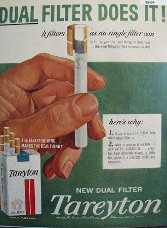 Tareyton New Dual Filter Cigarette 1959 Ad