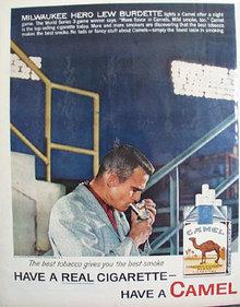 Camel Cigarette Lew Burdette 1958 Ad