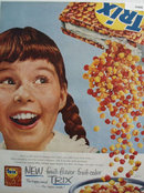 Trix Fruit Flavor Happy Cereal 1956 Ad