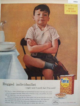 Trix Sugar Cereal Fruit Flavor 1958 Ad.