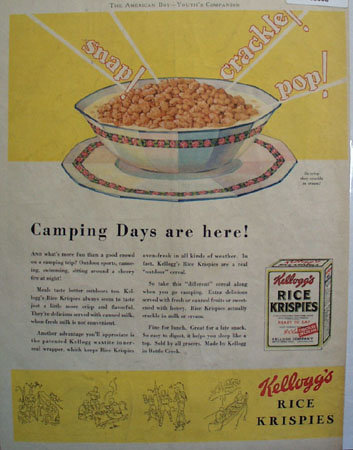 Kelloggs Rice Ksrispies So Crisp 1931 Ad