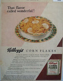Kelloggs Corn Flakes No Substitute 1929 Ad