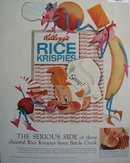 Kelloggs Rice Krispies Serious Side 1958 Ad