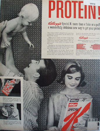 Kelloggs Special K Cereal 1959 Ad