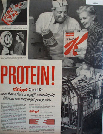 Kelloggs Special K Cereal  Protein 1959 Ad