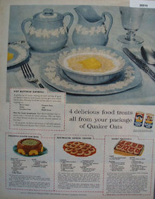 Quaker And Mothers One Minute Oats 1956 Ad.