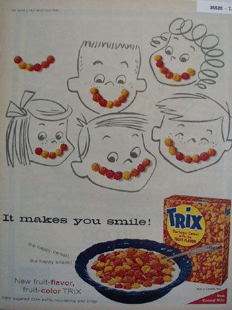 Trix The Sugar Cereal 1956 Ad