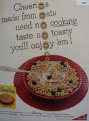 Cheerios Oat Cereal 1956 Ad