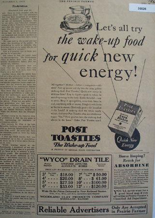 Post Toasties Corn Flakes 1930 Ad