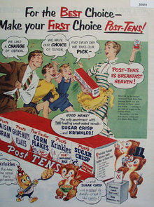 General Foods Post Tens Cereal 1952 Ad