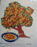Trix Cereal Tree 1957 Ad.