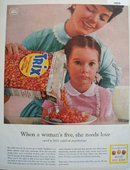 Trix Fruit Flavor Cereal Made for Kids 1958 Ad