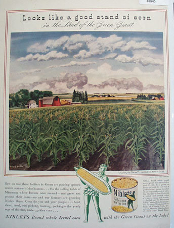Green Giant Niblets Brand Corn 1942 Ad