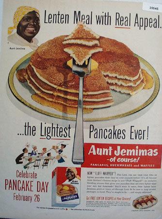 Quaker Oats Aunt Jemima Pancakes 1952 Ad