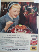 Armour Star Corned beef Hash 1956 Ad