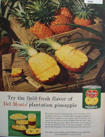 Del Monte Pineapple 1957 Ad