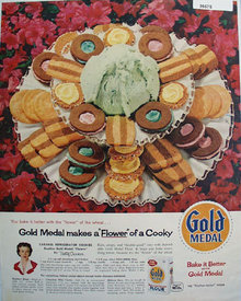 Gold Medal Flour Refrigerator Cookies 1959 Ad