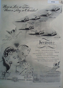 Keepsake Diamond  Never A Love so True Ad 1946