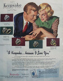 Keepsake Diamond Because I Love You Ad 1949